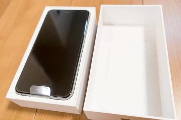 US版SIMフリーiPhone 6s Plus開封後