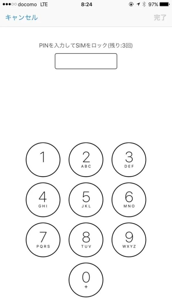 PIN1コードを入力する(4~8桁の数値)
