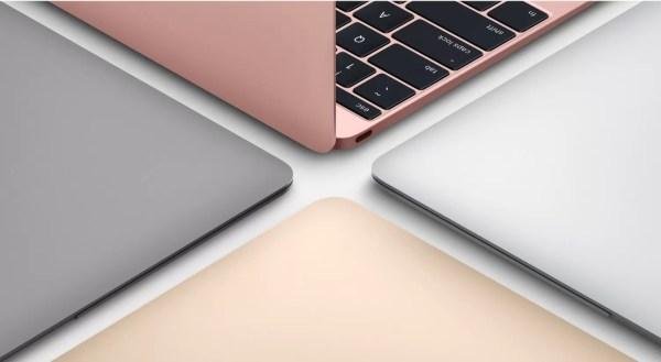 12インチMacBookのカラーバリエーション