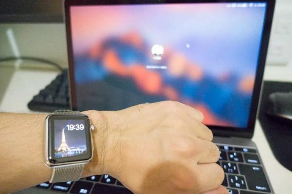 Apple Watchでロックを解除