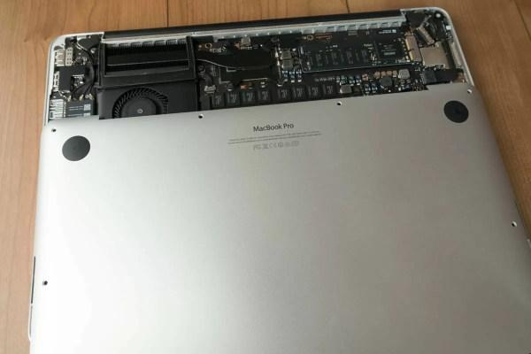 キレイになったMacBook Proとはお別れ