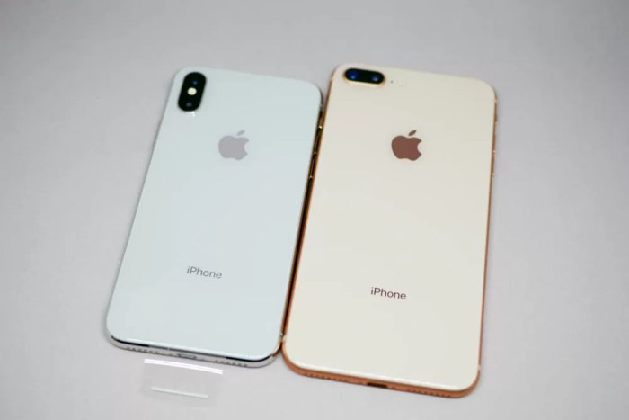 iPhone XとiPhone 8 Plusの比較(背面)