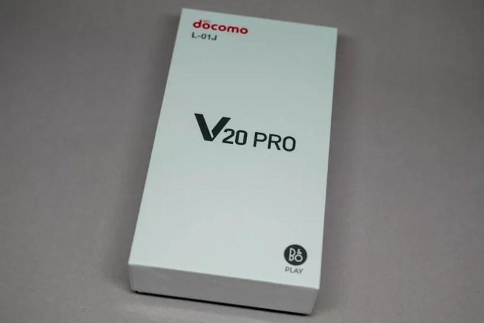 「V20 PRO L-01J」のパッケージ