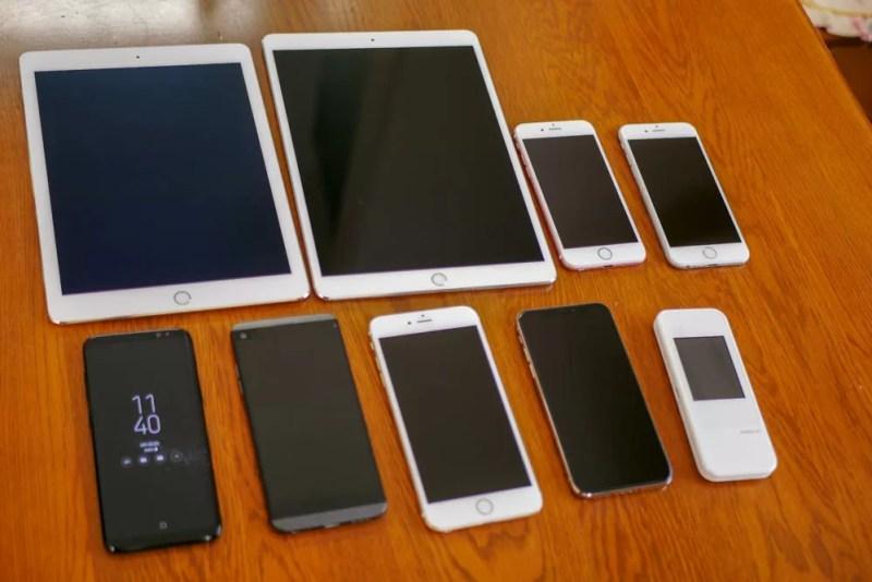 コーティングは多数のデバイスに濡れる