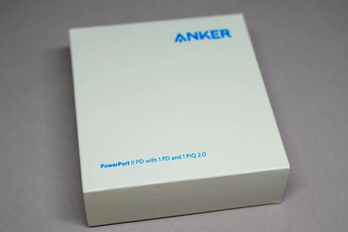 「Anker PowerPort ll PD」のパッケージ(表面)