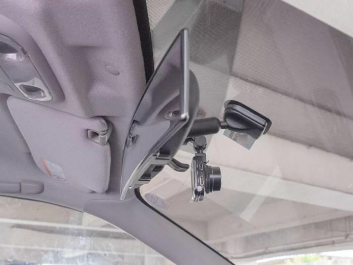 MUSON NOTE3 フロントガラス取付状況(運転席側の真横から見たところ)