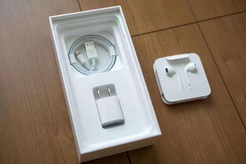 同梱品はiPhone Xまでと同様