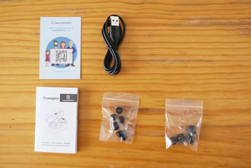 SoundPEATS(サウンドピーツ) Truengine Bluetooth イヤホン 同梱品