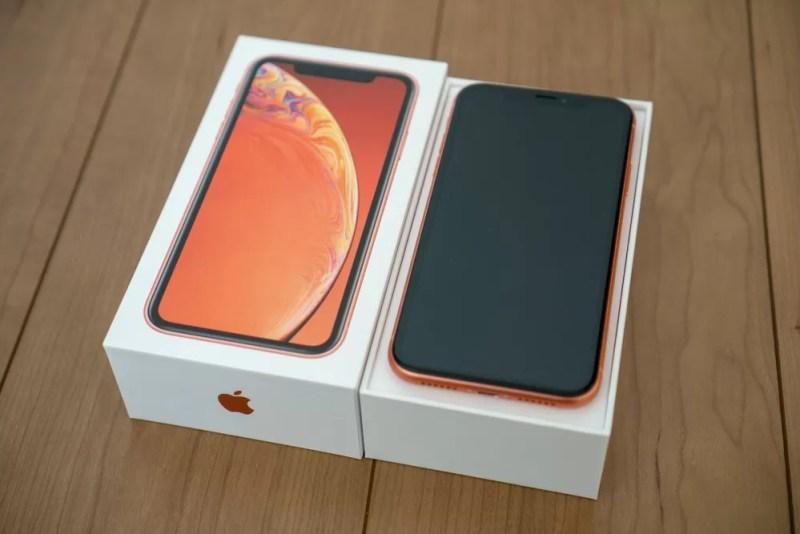 iPhone XRコーラル開封レビュー