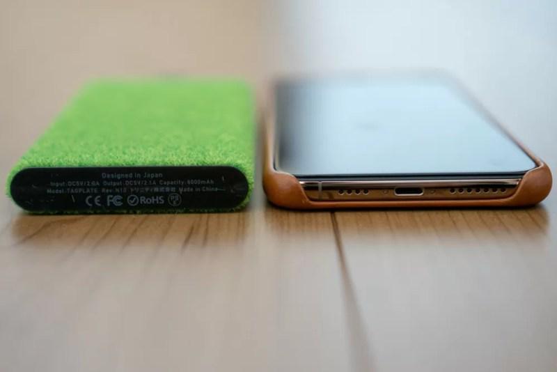 iPhone XS Maxと厚みの比較