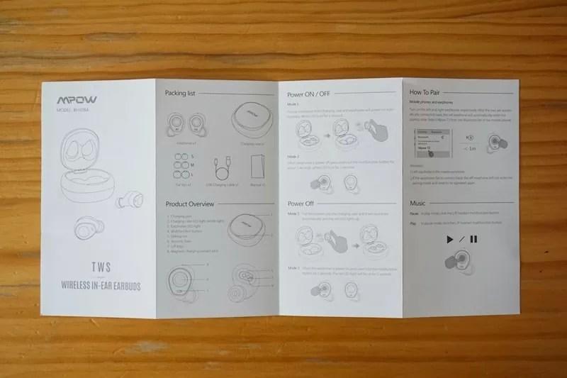 【Mpow T3 Bluetooth イヤホン】取扱説明書