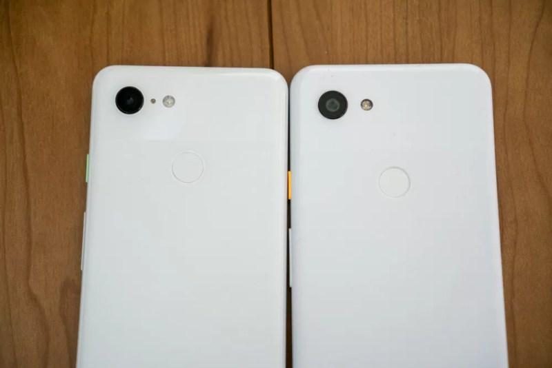 左:Pixel 3、右:Pixel 3a