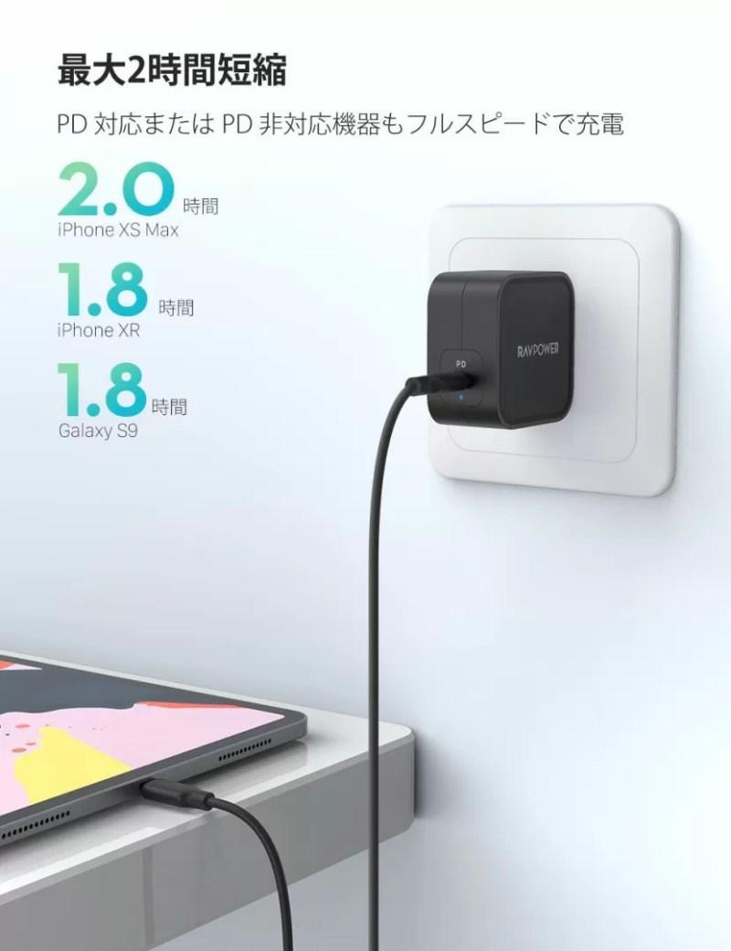 RAVPower 「RP-PC112」充電性能