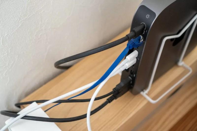 Mac miniからThunderbolt 3ケーブル2本を使って出力