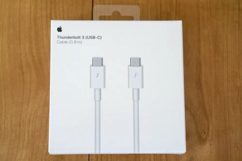 Apple純正のThunderbolt 3ケーブル