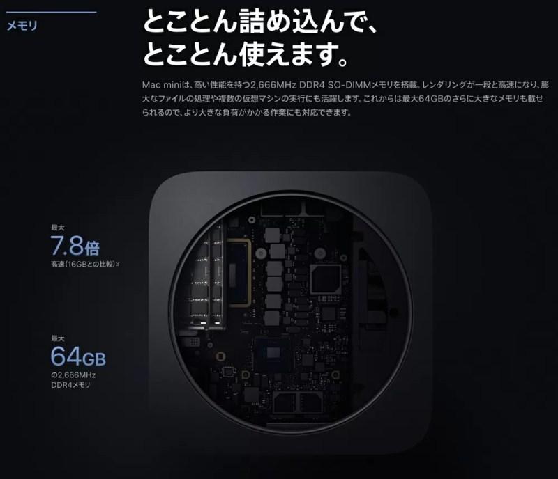 メモリは最大64GB