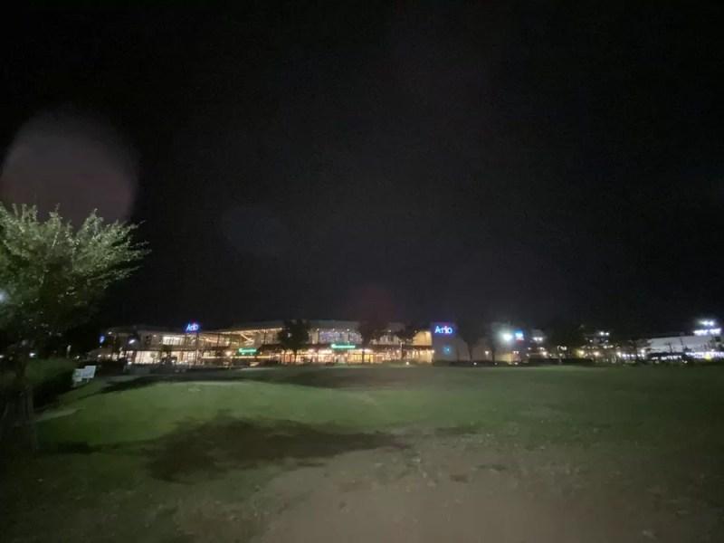 iPhone 11の超広角カメラ(ナイトモード利用不可)