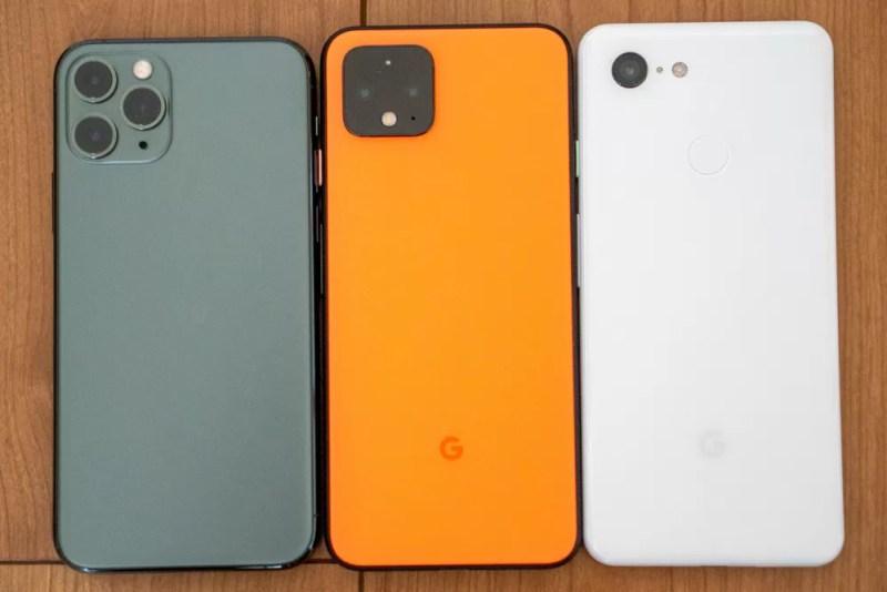 iPhone 11 Pro、Pixel 3との比較(背面)
