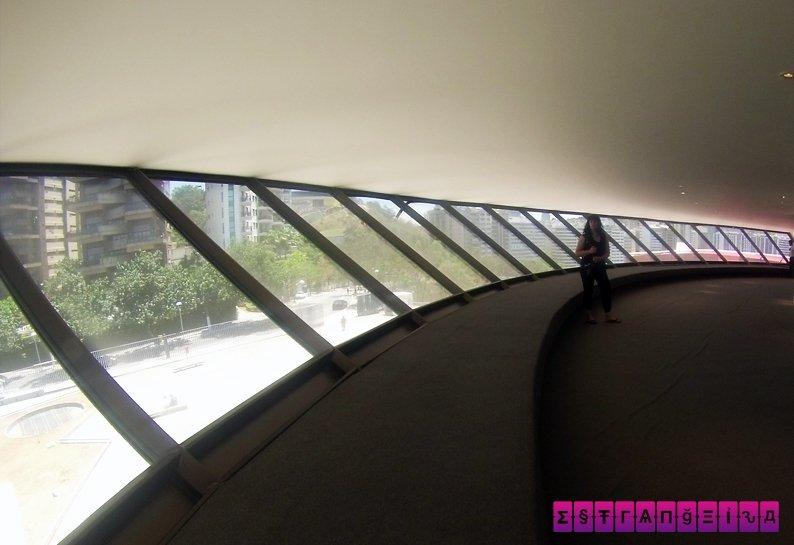 Vista do interior do museu