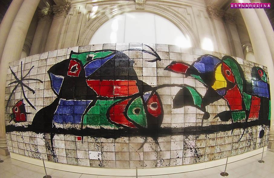 Painel de Miró no MNAC em Barcelona, Espanha