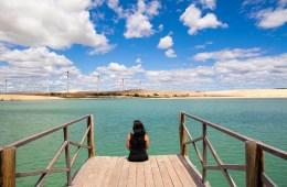 plataforma sobre o mar