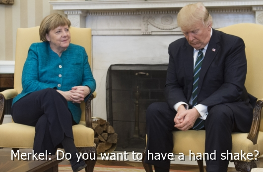 Merkel - Do you want to have a hand shake