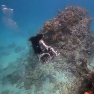Sue Austin goes deep-sea diving in her wheelchair!