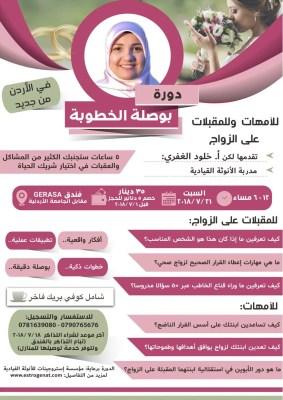 جديد فعالياتي ودوراتي في الأردن صيف ٢٠١٨