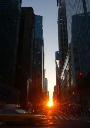 Manhattan y el sol