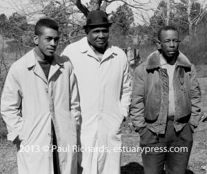 1963, Mississippi Voter Registration Activists Hollis Watkins, Amzie Moore, E.W. Steptoe,