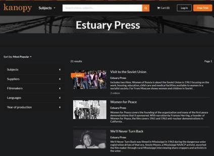 Videos for Libraries Available at Kanopy