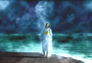 El varón vestido de lino... Cristo con vestiduras de sacerdote.