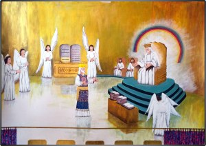 Cristo ante Dios Padre en el Lugar Santísimo del Santuario Celestial en el JUICIO.