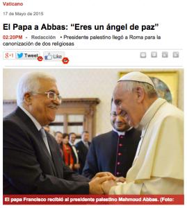 PapaAbbasAngelPaz