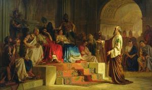 El Apóstol Pablo predicando ante el rey Agripa