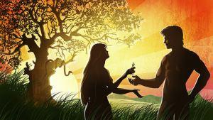 Caída de Adán y Eva.