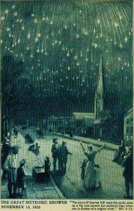 La caída de las estrellas en el año 1833.