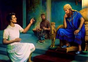 Daniel ante el rey Nabucodonosor.