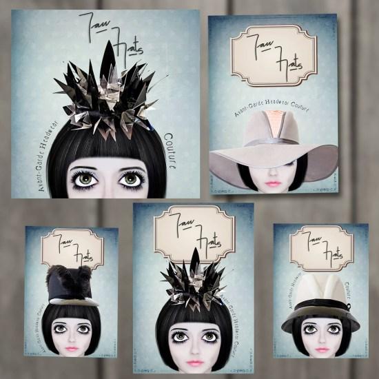 Diseño de Tarjetas personales - Postales - Gráfica Redes Sociales - Yan Hats