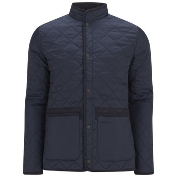 men's heritage tweed liddesdale quilt jacket - navy