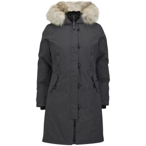 hooded fur trim parka