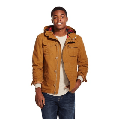 mens flannel lined canvas jacket