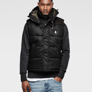 RAW for the Oceans Hooded Vest, $280