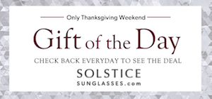 Solstice Gift of the Day Thanksgiving Weekend