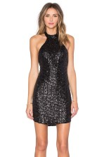 Reverse Geo Sequin Halter Dress, $75