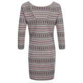 Superdry Jacquard Knitted Bodycon Dress - Pop Coral Back, $58.85