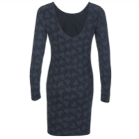 Superdry Winter Print Dress Bleeding Hearts Back, $53.55