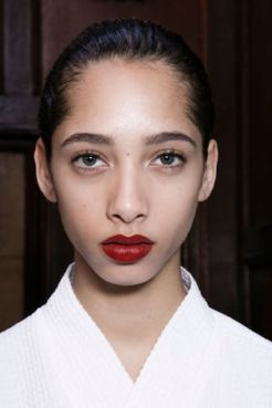 New York Fashion Week Trends Red Lips Victoria Beckham