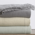 Coyuchi Larkspur Linen Coverlet King, $498; Full:Queen $448