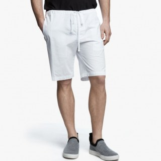 James Perse Stretch Poplin Short White, $175